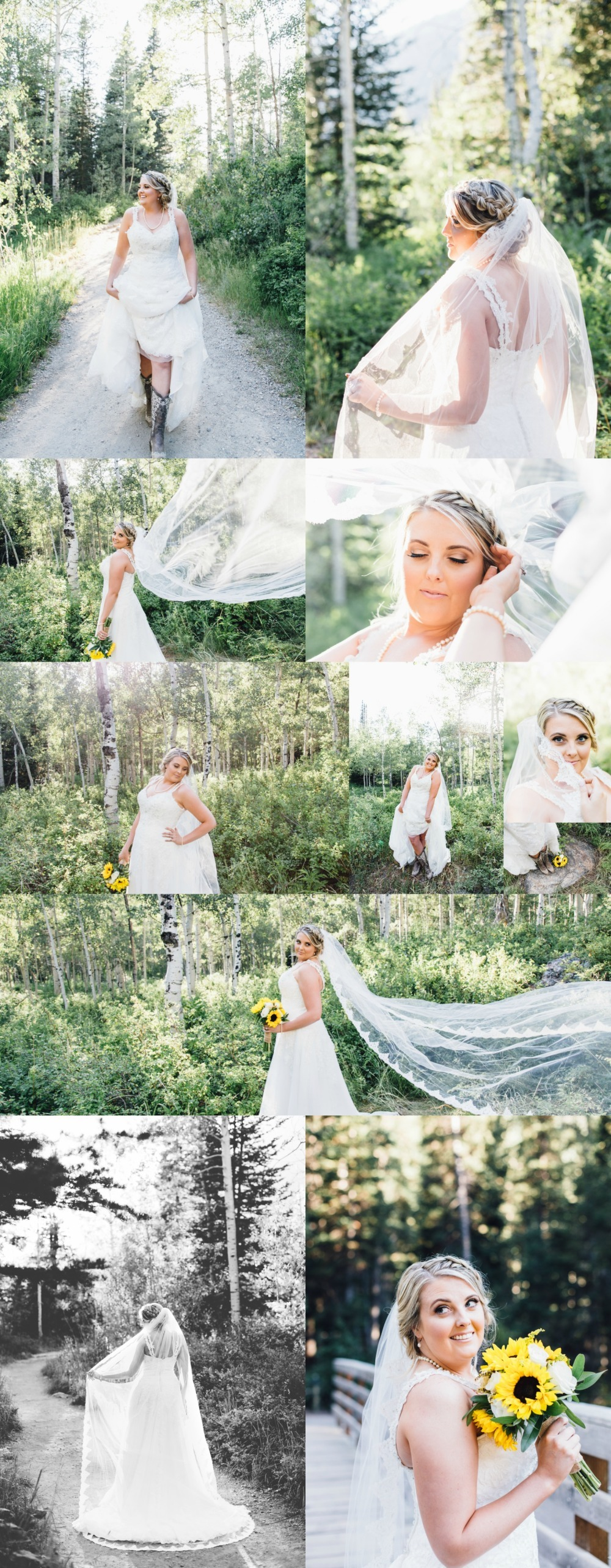 Big Cottonwood Canyon Bridal Photographer