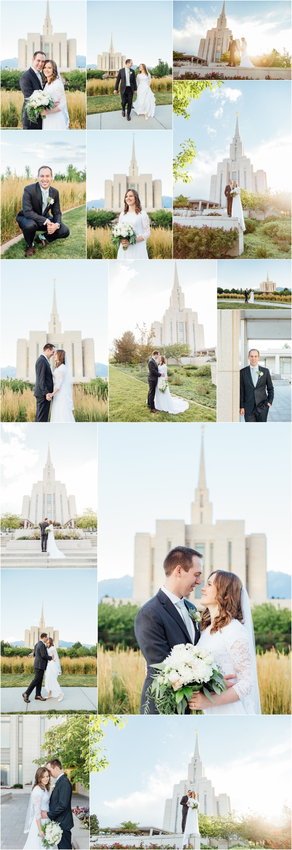 Oquirrh Mountain Temple Bridal Photographer