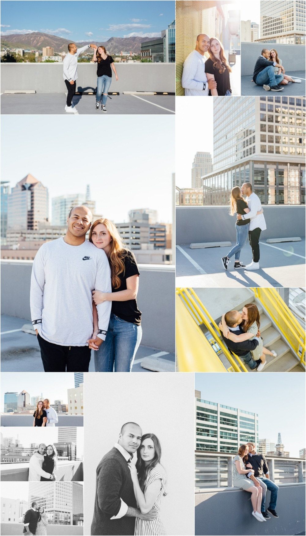 Downtown Salt Lake City Engagement Photographer