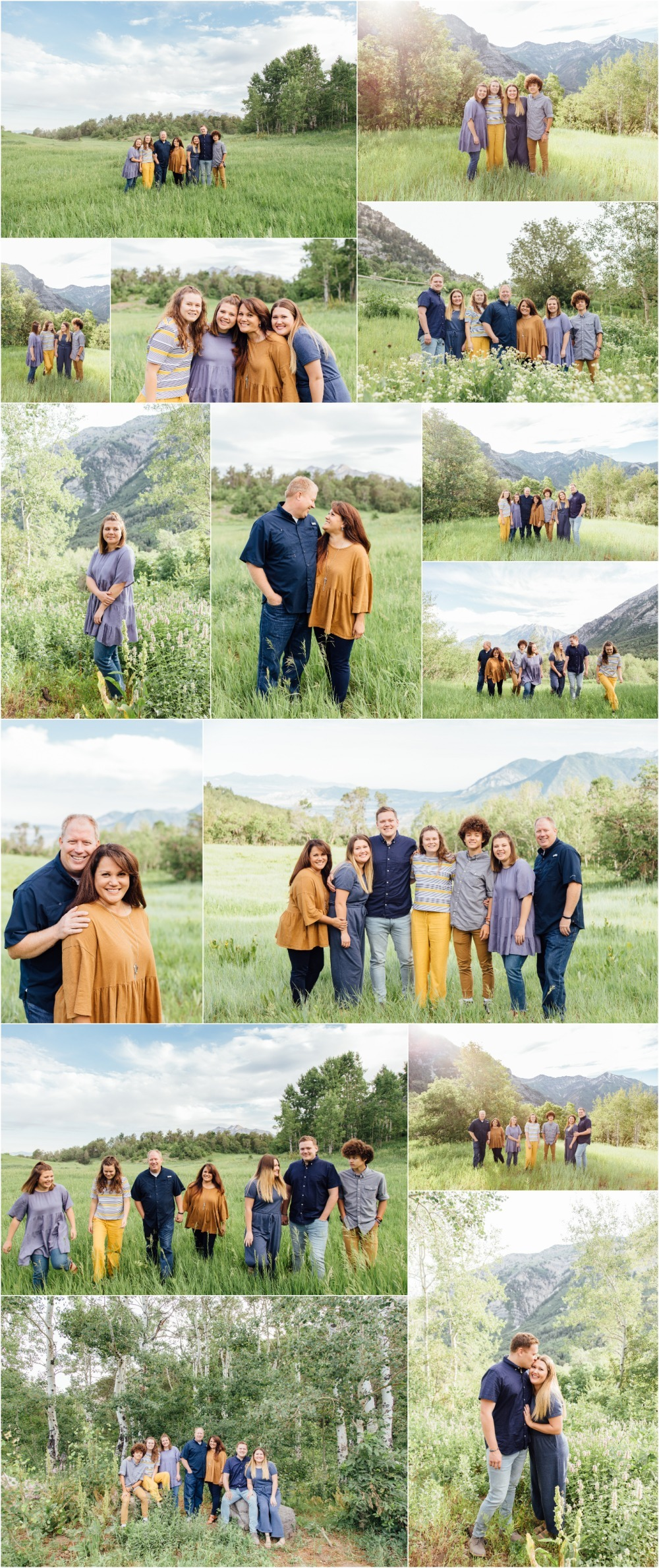 Provo Canyon Extended Family Photographer