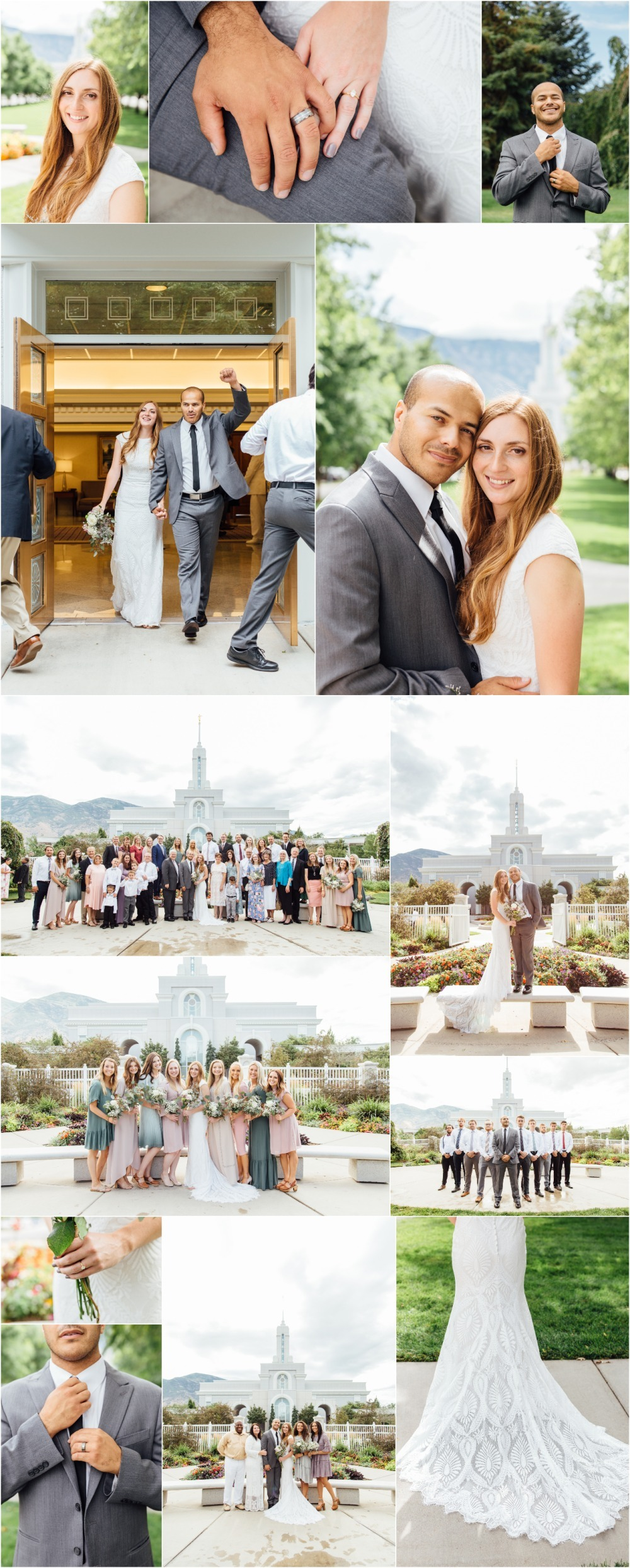 Mount Timpanogos Utah Temple Wedding Photographer