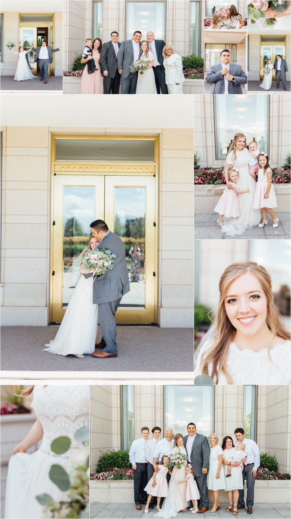 Oquirrh Mountain Temple Wedding Photographer