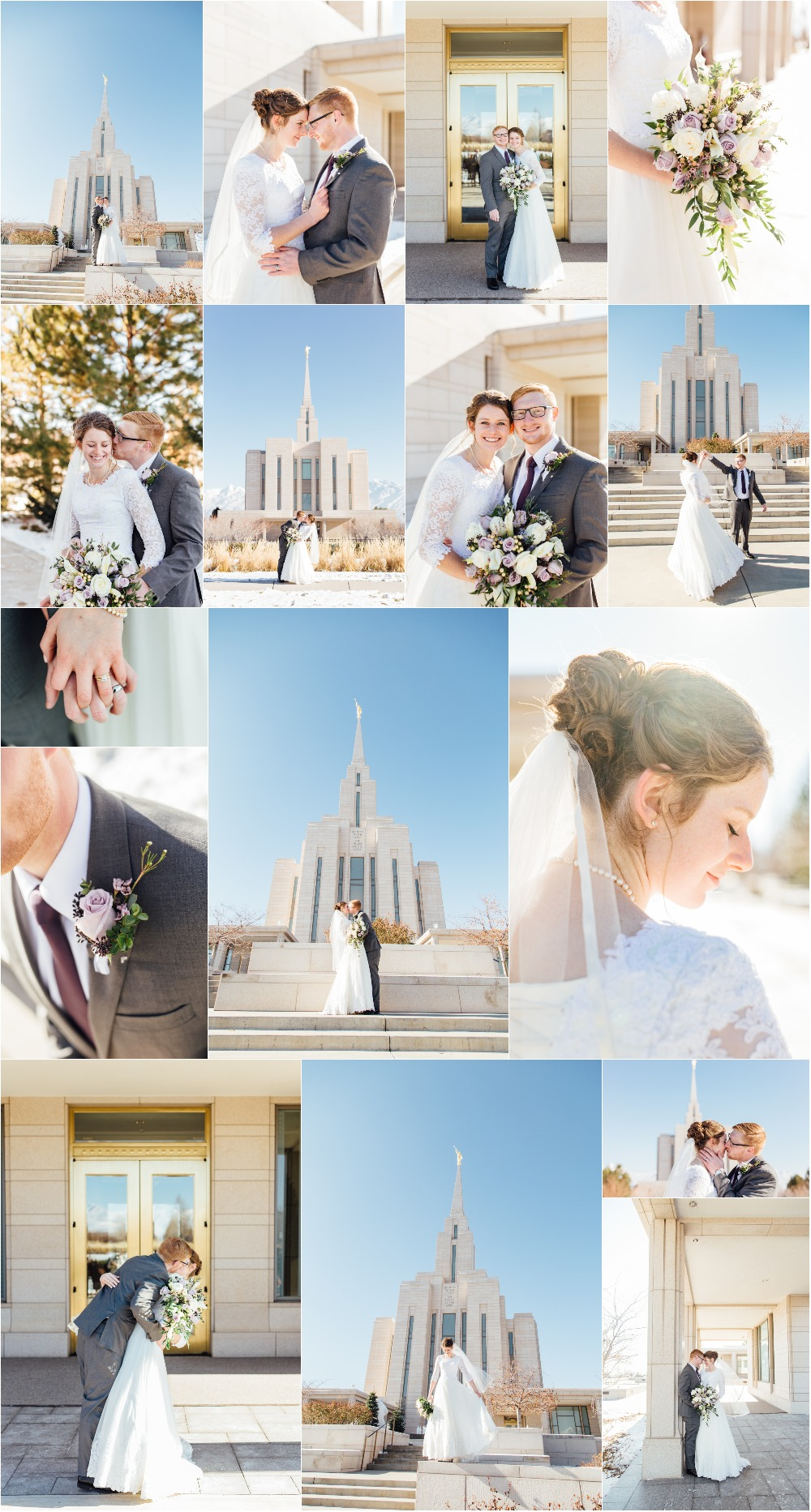 Oquirrh Mountain LDS Temple Wedding Photographer