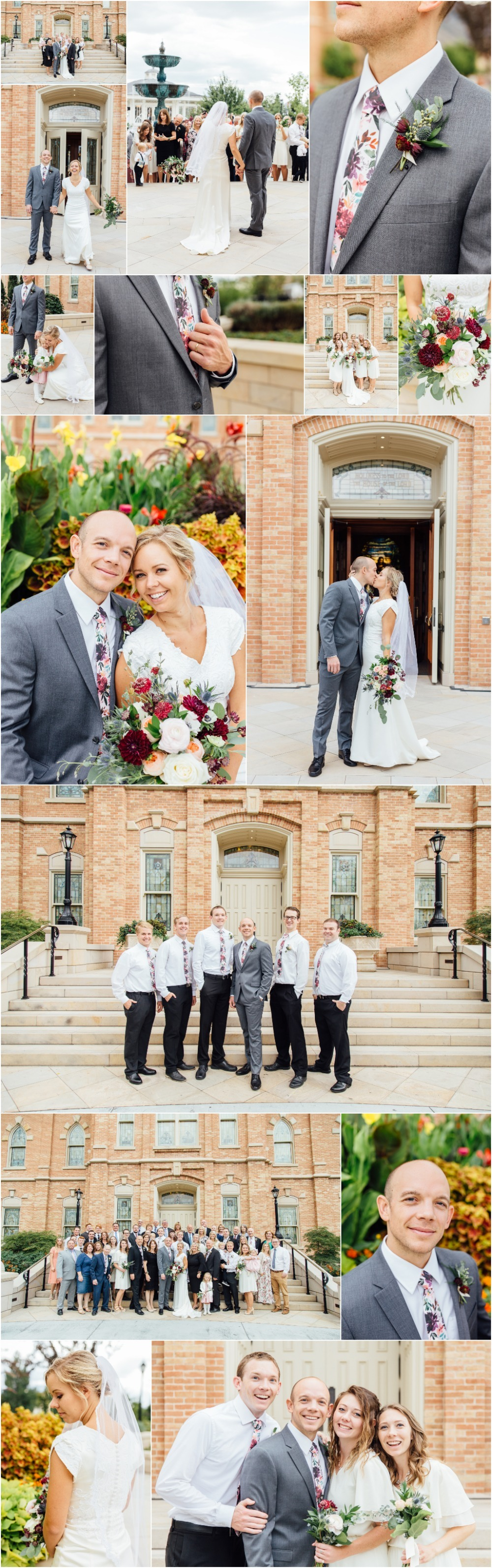 Provo City Center Temple Wedding Photographer