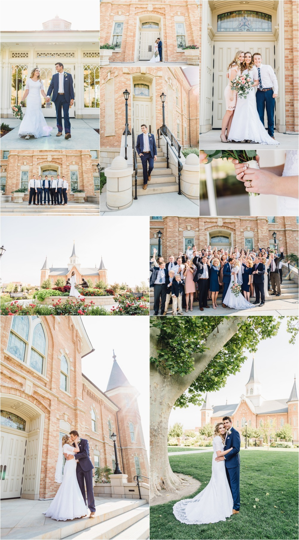 Provo City Center Temple Wedding Photography