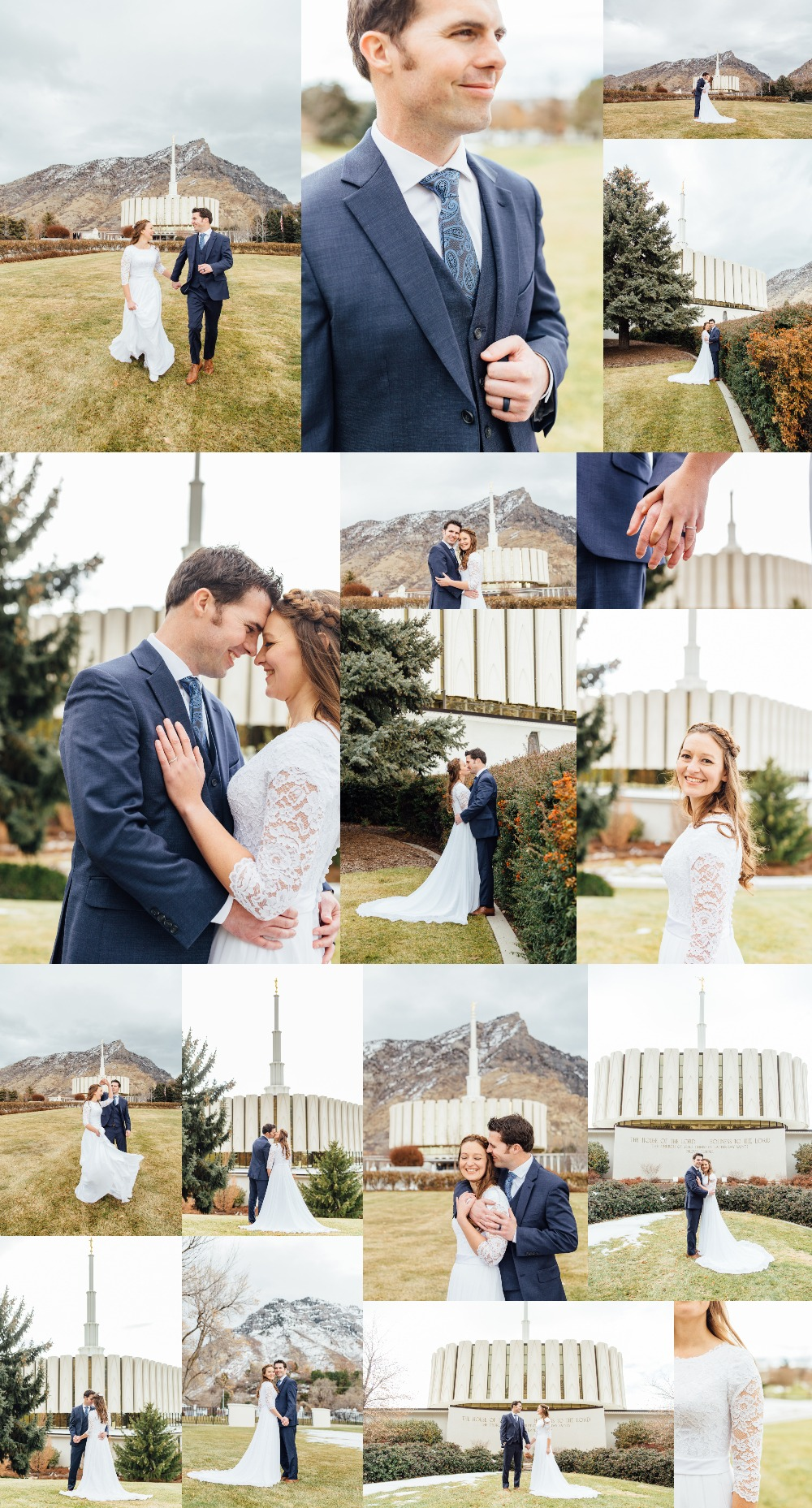 Provo Utah Temple Wedding Photographer