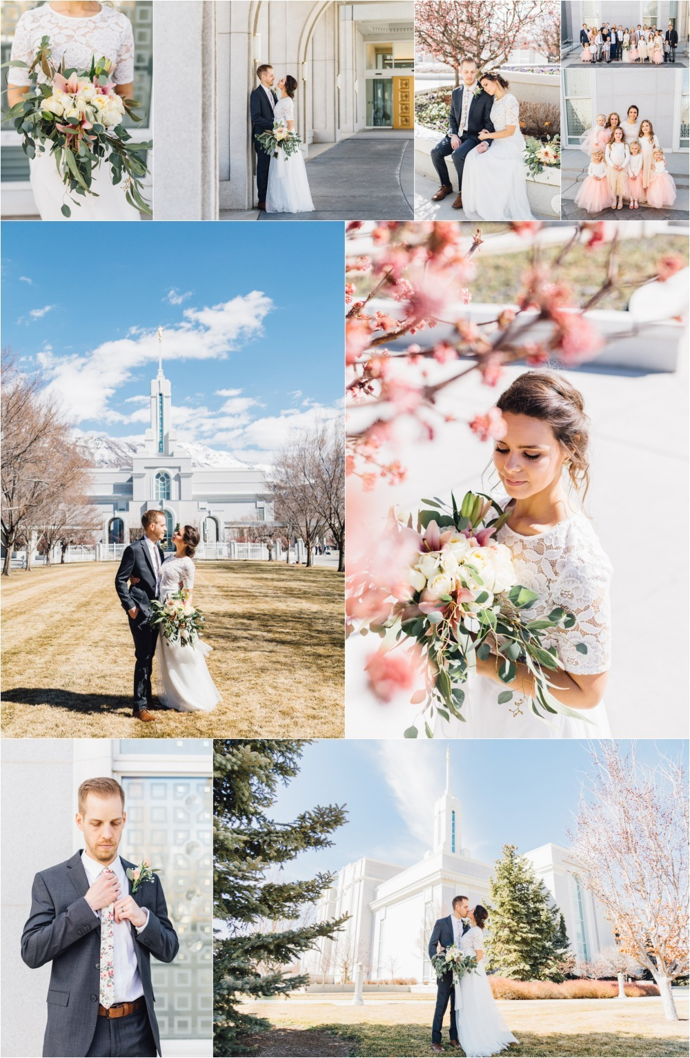 Timpanogos Temple Wedding Photographer