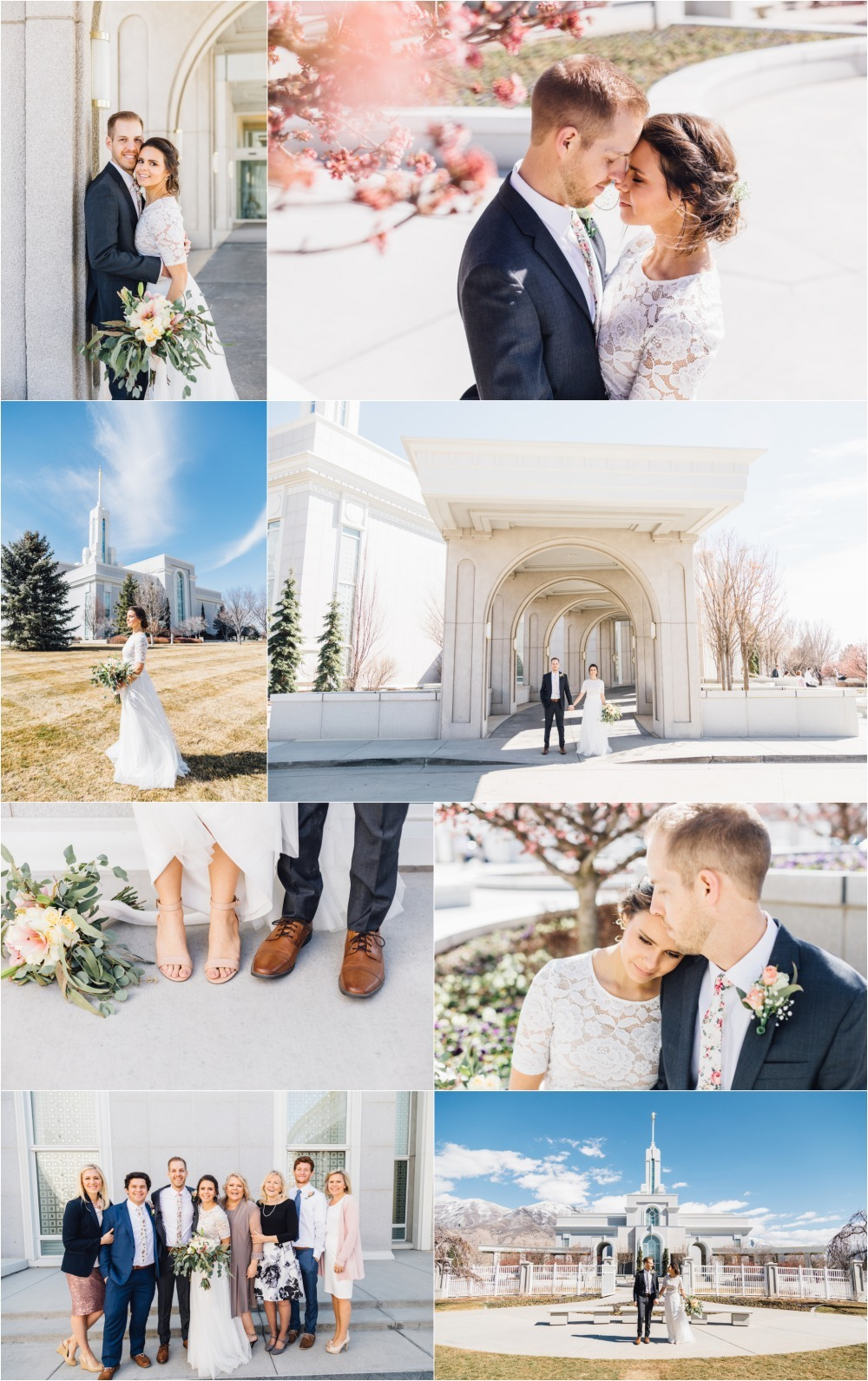 Timpanogos Temple Wedding Photography