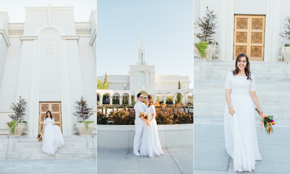 Bountiful Temple Wedding Photographer